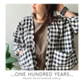 Wide and boxy black and white gingham check cotton jacket with pockets