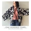 Geometric 80s vintage fabric kimono jacket, free size, one of a kind