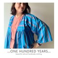 Rainbow fun vintage fabric striped summer spring smock style kimono jacket