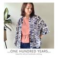 Vintage repurposed fabric kimono style jacket
