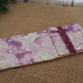Cutlery Pouch with Cutlery-  Purple Floral