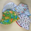 Baby bucket sun hat size XS - 46cm - 6 mnths - dinosaur peter rabbit humpty cars
