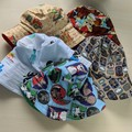 Baby bucket sun hat size S - 48cm - 12 months puppies, nursery, vehicles, forest
