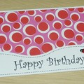 Girls Happy Birthday card - ladybirds
