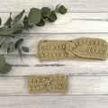Ladies crochet headband, crochet ear warmer, adult knitted headband