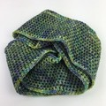 Crochet Double Infinity Scarf / Cowl | Hand Dyed Merino | Hand Crocheted | Green