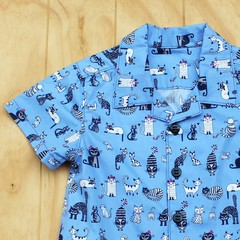 Black and White Cats - Boy's Button up Shirt - Size 3
