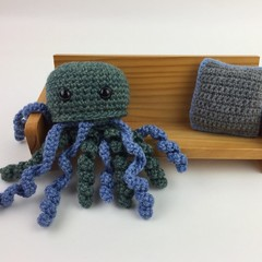 Green Crochet Jellyfish Softie | Toy | Wool Bamboo | Gift Idea | Hand Crocheted