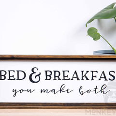 Rustic Wooden Farmhouse Sign - Bed & Breakfast