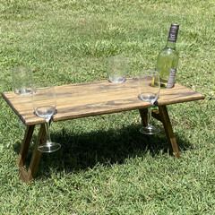 Folding Wine Picnic Table, Portable Table, Platter Table - Mothers Day Gift