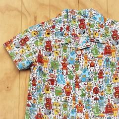 Hotshot Robots - Boy's Button up Shirt - Size 4