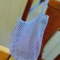 Crochet Mesh Market Bag - Sky Blue