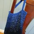 Crochet Mesh Market Bag - Deep Ocean
