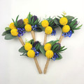 Artificial Native Flower Buttonhole for Groom, Groomsman, Father Wedding Flowers