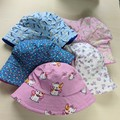 Baby bucket sun hat size S - 48cm -12 months birds fairies ducks flowers puppies