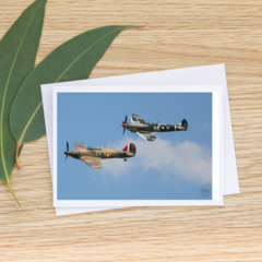 Spitfire and Hurricane - Photographic Card #60