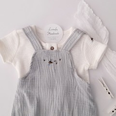 Hand-Embroidered Bumble Bee Baby Romper & Shirt Baby Gift Outfit