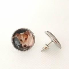 Personalised Photo STUDS Earrings, Custom Photo Earrings, Gift or Her