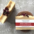 Handmade Soap | Rose | Pink Clay with Organic Rose Petals | Vegan