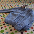 Light blue cable jumper to fit 2 years