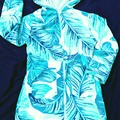Tropical Palms SWIM ROBE  with WATERPROOF back Sizes 2 & 8