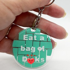 Naughty Keychain, keyring, car dangler