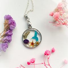 Blossom Blue Bird Necklace 3