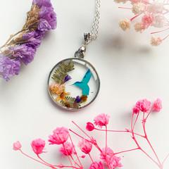 Blossom Blue Bird Necklace 2