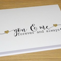 Wedding anniversary / love card - you & me