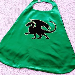 Dragon Silhouette Dress Up Cape - Ages 4 - 8