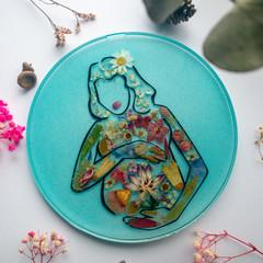 Blooming Preggy Mama - Teal