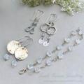 Little Loops Silver and Gemstone Dangle Earrings