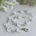 Silver and Gemstone Bracelet - Rainbow Moonstone