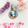 Blossom Blue Bird Necklace 1
