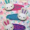 Ready to post - Bunny Plushie + Free Easter Clippies Gift