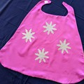 Reversible Pink Glitter Snowflake Dress Up Cape - Small: Age 18mths - 3yrs