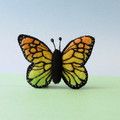 Embroidered Butterfly Brooch, Wool felt pin, Felt Butterfly, Mother's Day