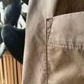 Khaki olive green cotton smock knee length dress with huge pockets.