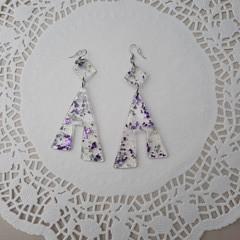triangle resin drop earrings
