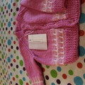 Little pink cardie with matching toned border
