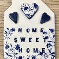 Ceramic Wall Decor Home Sweet Home Tile / Wall Decor / Gift