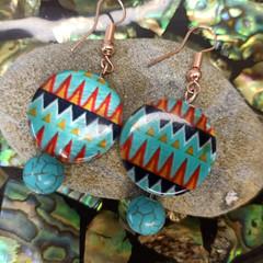 Azure Tribal Earrings