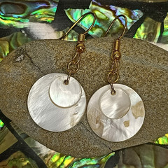 White Coastal Shell Earrings