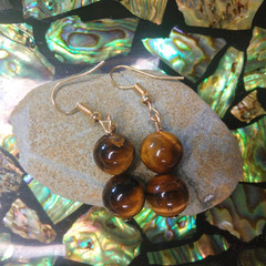 Tiger's Eye Crystal Earrings