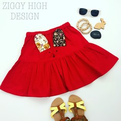 Adorable Handmade Tiered Bunny Rabbit Skirt