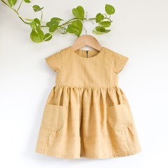 Eco Cotton Mustard Toddler Dress Size 2