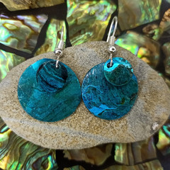 Turquoise Coastal Shell Earrings