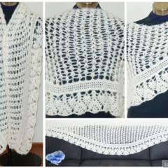 Luxurious light cream lacy crochet Bridal Wedding wrap / shawl / Stole