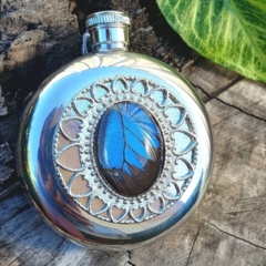 Ulysses Butterfly Wing Hip Flask - Stainless Steel 5oz hipflask