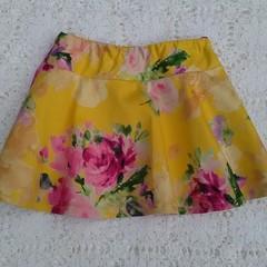Girls skirt - Blue floral twirly skater skirt size 2-3